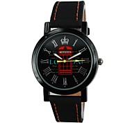 Unisex Mailbox Pattern PU Band Quartz Wrist Watch (Assorted Colors)
