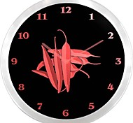 nc0961 Red Chili Peppers Neon Sign LED Wall Clock