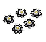 1W High Power Natural White Color módulo de LED com alumínio PCB (3.0-3.4V, 5pcs)
