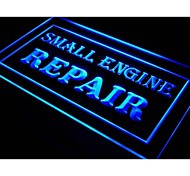 i134 OPEN Small Engine Repair Display Neon Light Sign