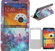 Beautiful Night Sky Stars Pattern PU Leather Full Body Case for Samsung Galaxy Note 3