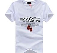 Цзянь Нань ® Мужская Круглый Ожерелье Письмо печати случайные футболки