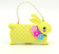 Rabbit with Chain Design Soft Silicon Case for iPhone 5/5S