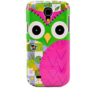 Cartoon Owl Pattern Hard Back Cover Case for Samsung Galaxy S4 Mini I9190