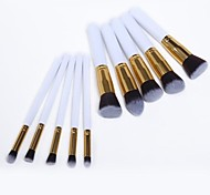 10PCS   Makeup Brushes Cosmetic Eyebrow Lip Eyeshadow Brushes Set