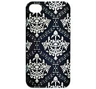 Joyland ABS Bianco Fiore Sfondo nero di caso per il iPhone 4/4S