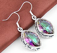 Drop EarringsJewelry Silver Crystal / Silver Plated Wedding / Party / Daily / Casual