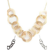Woman's Hollow Loop Pattern Metallic Flexible Necklace(1pc)