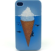 Icecream Dolphin Sea Pattern Hard Case for iPhone 4/4S