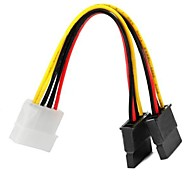 1to2 Type D 4Pin to SATA Power Adapter Cable 15cm