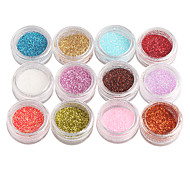 12-Color Glitter Power Nail Art Decorations