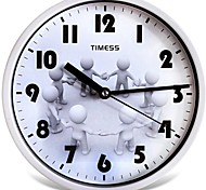 "Timess™ 9""H Style Happy Mute Wall Clock"