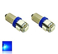 BAX9s H6W 1W 5X5050 SMD Blue Lights LED Light Bulb for Car Lamp (DC 12V , 2-Pack)