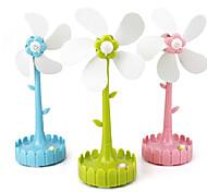 USB con forma de flor y con pilas del ventilador eléctrico