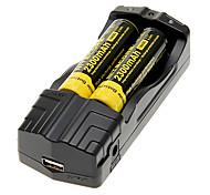 NITECORE NL183 2300mAh 18650 Battery (2 pcs) + TrustFire TR-007 Battery Charger + 2 Pcs/Lot Hard Plastic Battery Storage Box