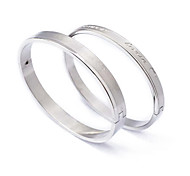 Fashion Foever Love Couple  Silvery  316L Stainless Steel  Bangle