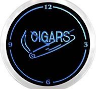 nc0921 Cigars Smoke Decor Room  Neon Sign LED Wall Clock