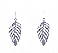 Fashion Polished Leaf Earrings