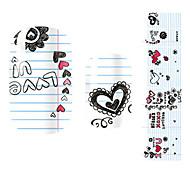 28PCS bunte Herzen Design Nail Art Sticker