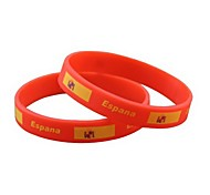 Spain Flag Pattern 2014 World Cup Silicone Wrist Band