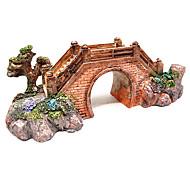 Jardinería Style Design Bridge resina de la decoración del ornamento de Acuario