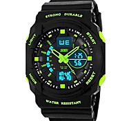 SKMEI® Kid's Men's Watch Sports Dual Time Zones Calendar LED Multifunction Water Resistant Cool Watches Unique Watches Fashion Watch