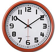 """12"""" Antique Style Red and White Metal Wall Clock"""