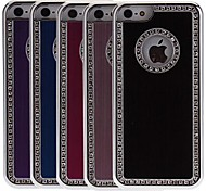 Diamond Look Brushed Aluminum Hard Case with Luxurious Chrome for iPhone 5C (Optional Colors)