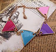 Sweet Candy Farbe Dreieck-Form 22cm Frauen-Gold-Legierung Charm-Armband (1 St.)