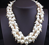 Women's European and American Multi-colored Pearl Necklace