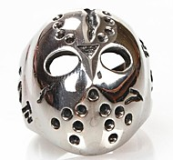 Z&X®  Men's Fashion And Personality Mask Titanium Steel Ring
