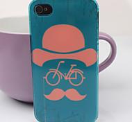 Sombrero encantador del patrón de los vidrios PC nuevo caso para el iPhone 4/4S