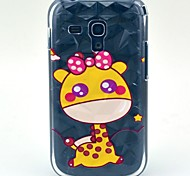 Little Deer Pattern Hard Diamonds Plastic Cases for Samsung Galaxy Trend Duos S7562