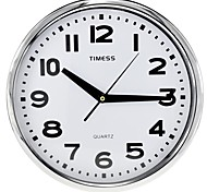 "Timess™ 12""H  Style Large Scale Digital Super Mute Metallic Wall Clock"