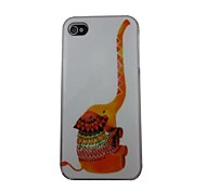 Cute Elephant Pattern PC Back Case for iPhone 4/4S