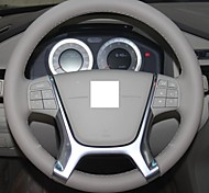 XuJi ™ Gray Genuine Leather Steering Wheel Cover for Volvo S80 XC60 XC70