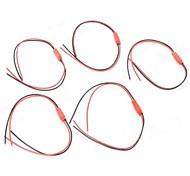 Cavi di collegamento 2pin PVC (nero + rosso) (5 PCS)