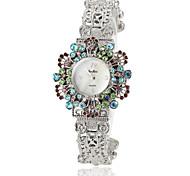 Women's Crystal Decor Alloy Band Quartz Bracelet Watch Cool Watches Unique Watches