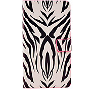 Zebra Stripe Pattern Leather Full Body Hard Case with Stand for Samsung Galaxy Note3 N9000