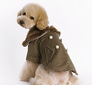 Elegant Thickened Overcoat with Fur Collar for Pets Dogs (Assorted Sizes)