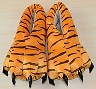 Kigurumi Pajamas Tiger Shoes / Slippers Halloween Animal Sleepwear Orange Animal Print Cotton / Polyester Slippers Unisex Halloween