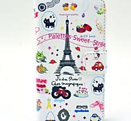Белые башни шаблон PU кожаный жесткий чехол с подставкой и Гнезда для платы для HTC Desire 310