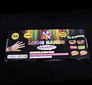 baoguang®rainbow bandas telar de color ajustada (600pcs gomas, clips 1 pak s, 1 gancho, 1looms