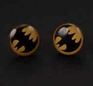 Dulce Batman Pendientes de plata de la aleación (1 par)