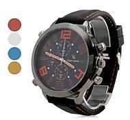 Reloj Pulsera Quartz Análogo Casual de Silicona Negro