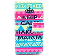 Tribal Carpet Matata Pattern PU Leather Case with Card Holder and Stand for Samsung Galaxy I8160