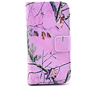 Pink Camo Pattern PU Leather Case with Card Slot and Stand for Samsung Galaxy S4 mini I9190
