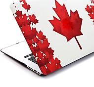 """Hoja de arce roja Folio Case Shell protector duro plástico para el MacBook Air de 13 """""""