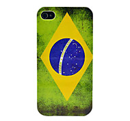 Retro Brazil Flag Hard Case for iPhone 4/4s