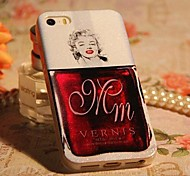 Colorful Sexy Lady Pattern TPU Back Case for iPhone 5/5S